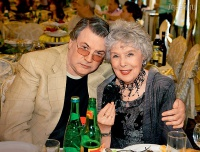 Александр Ширвиндт и Вера Васильева на юбилее Алены Яковлевой, 2012 г.
