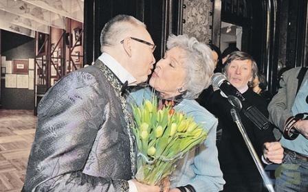 На юбилее Вячеслава Зайцева, март 2012 г.